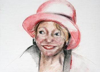iet met rode hoed