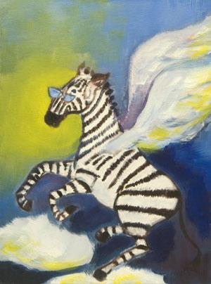 vliegende zebra