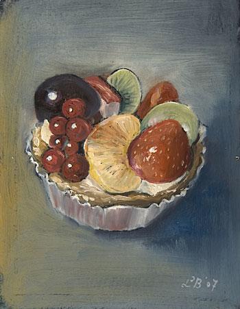 taartje met vruchten