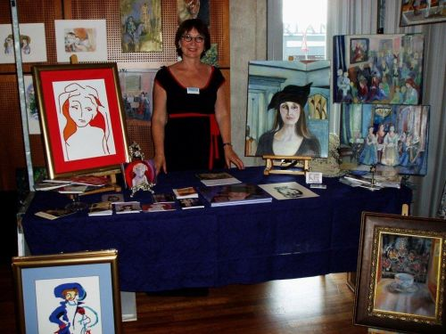 Lydia op kunstmarkt
