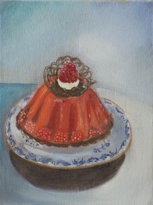 taartje met framboos