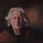 Portret Han de Vries (hoboist), olieverf op doek, 50x70 cm