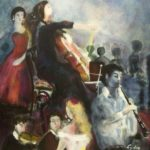 Muziekavond, olieverf op linnen, 70x60 cm