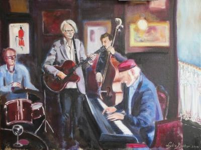 jazz in Welling, olieverf op linnen, 60x80 cm