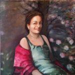 Patricia, olieverf op linnen, 100x100 cm